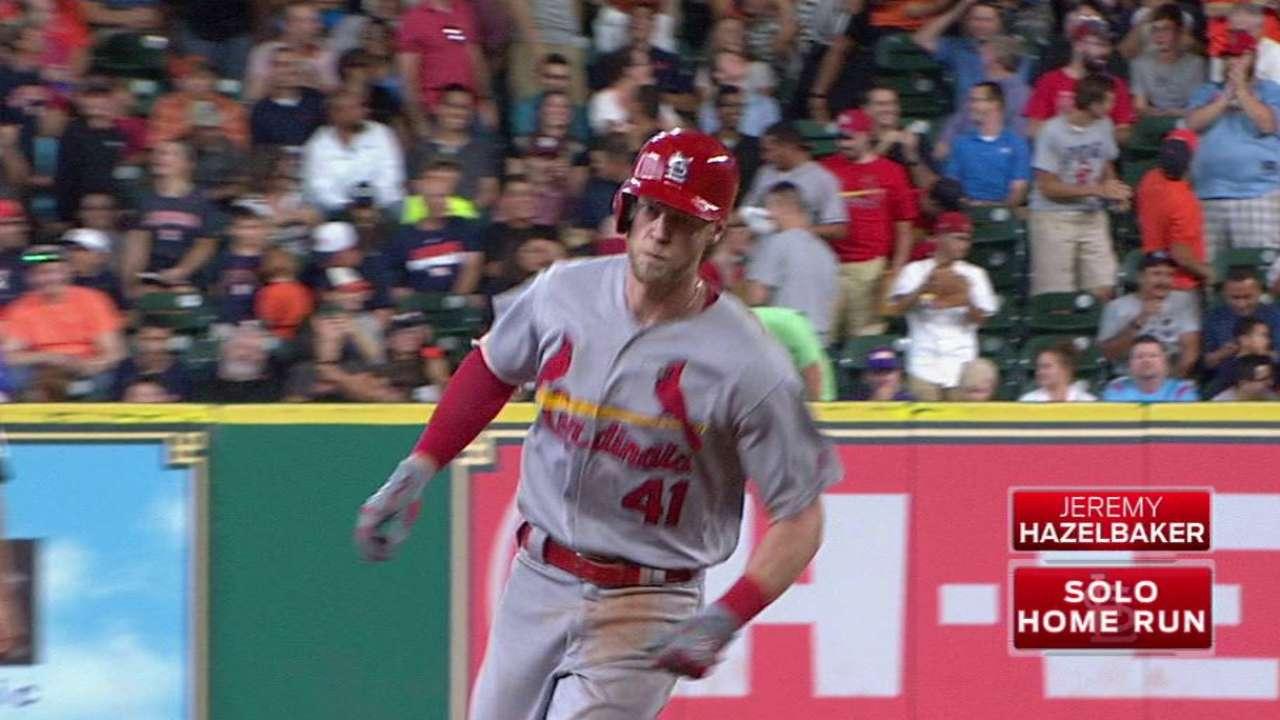 Hazelbaker's solo home run