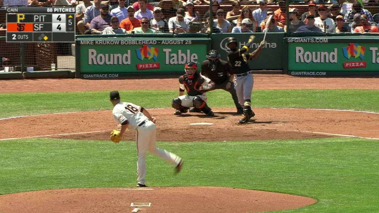McCutchen breaks out to lead surging Pirates