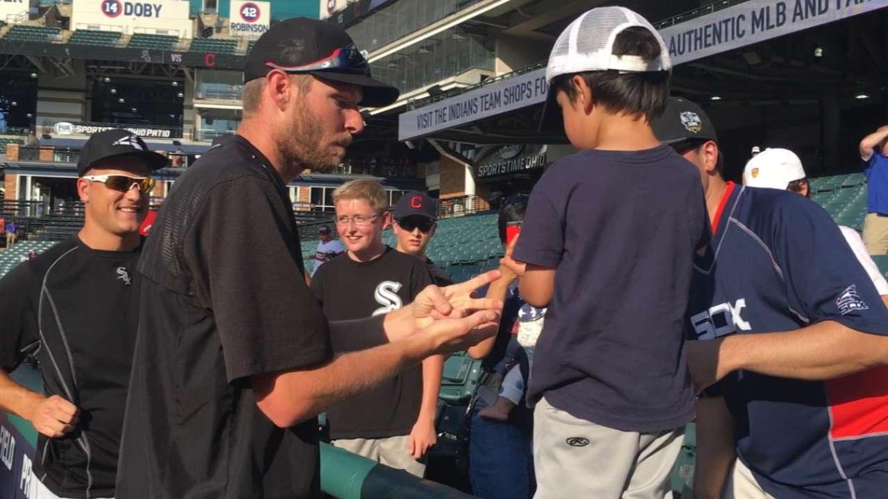 Sale has fun with young fan