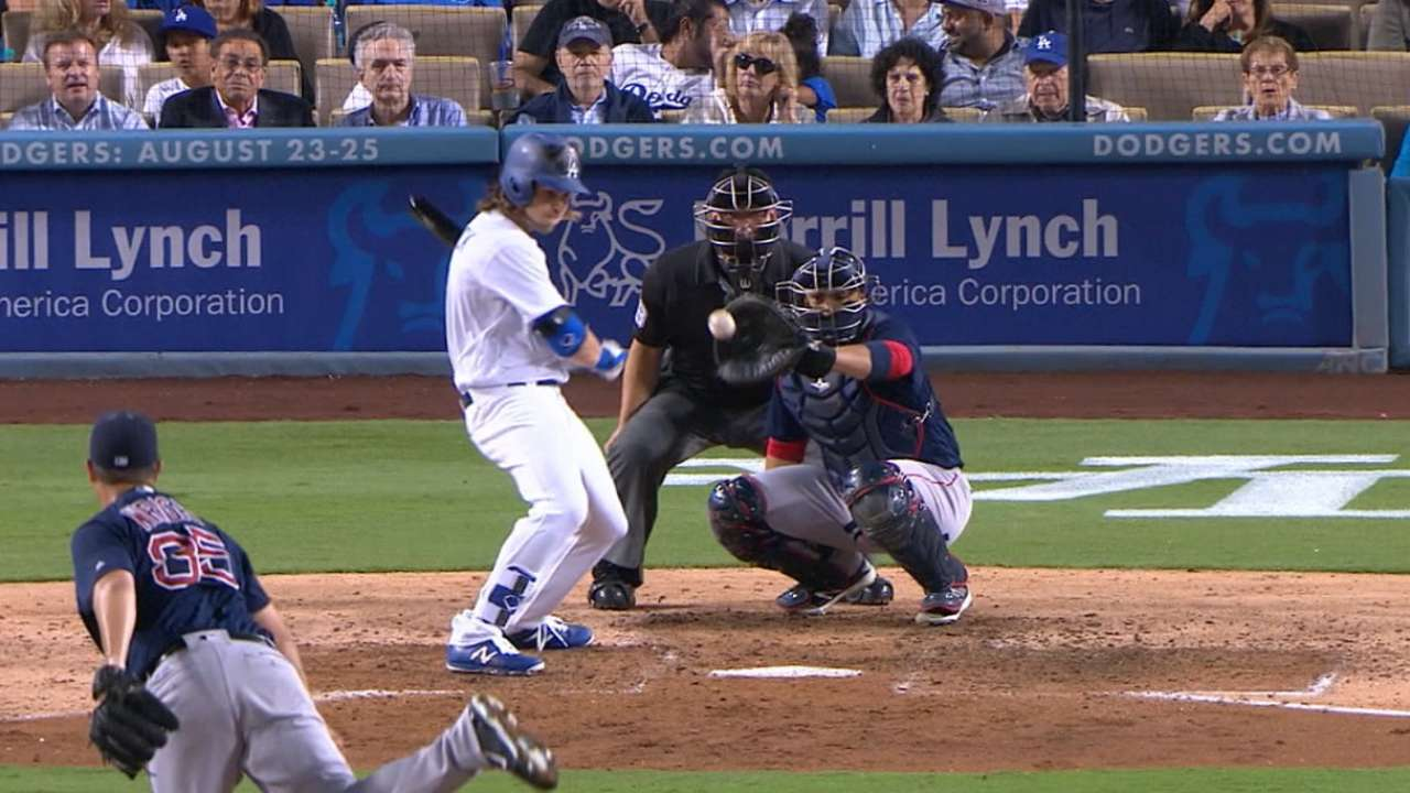 Dodgers handcuffed by Red Sox knuckleballer
