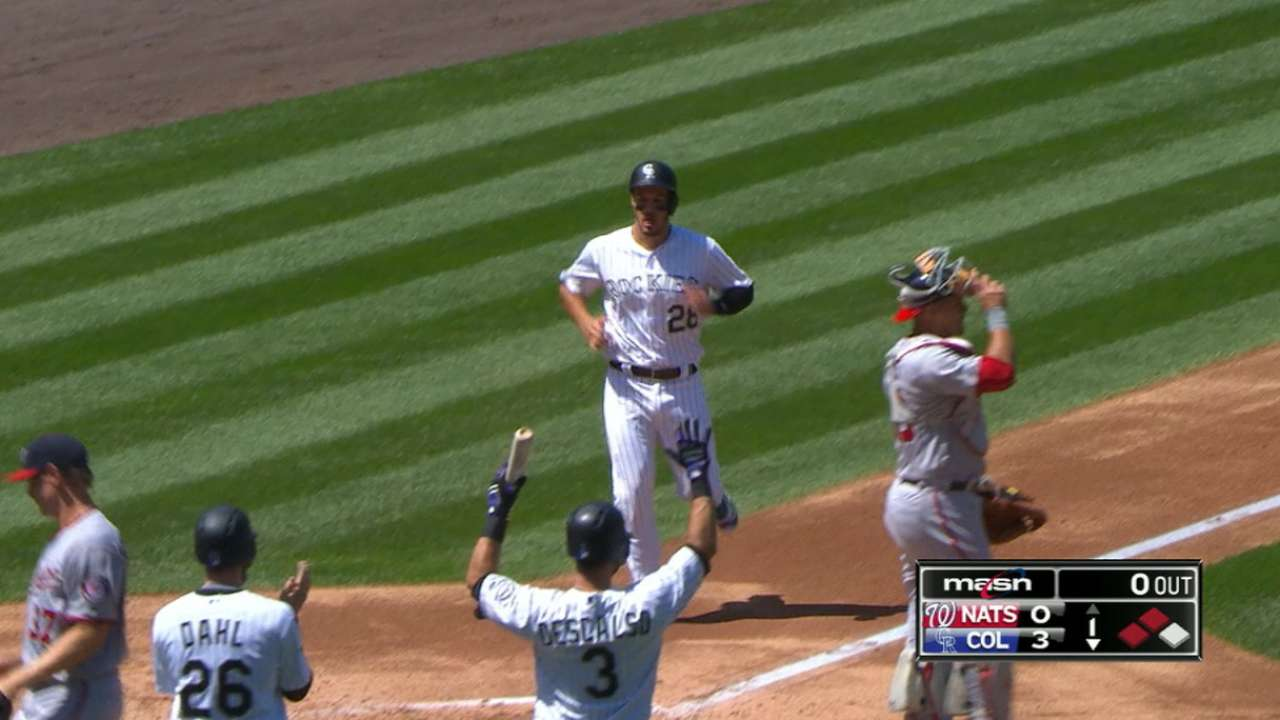 Rox break out early to top Nats in slugfest