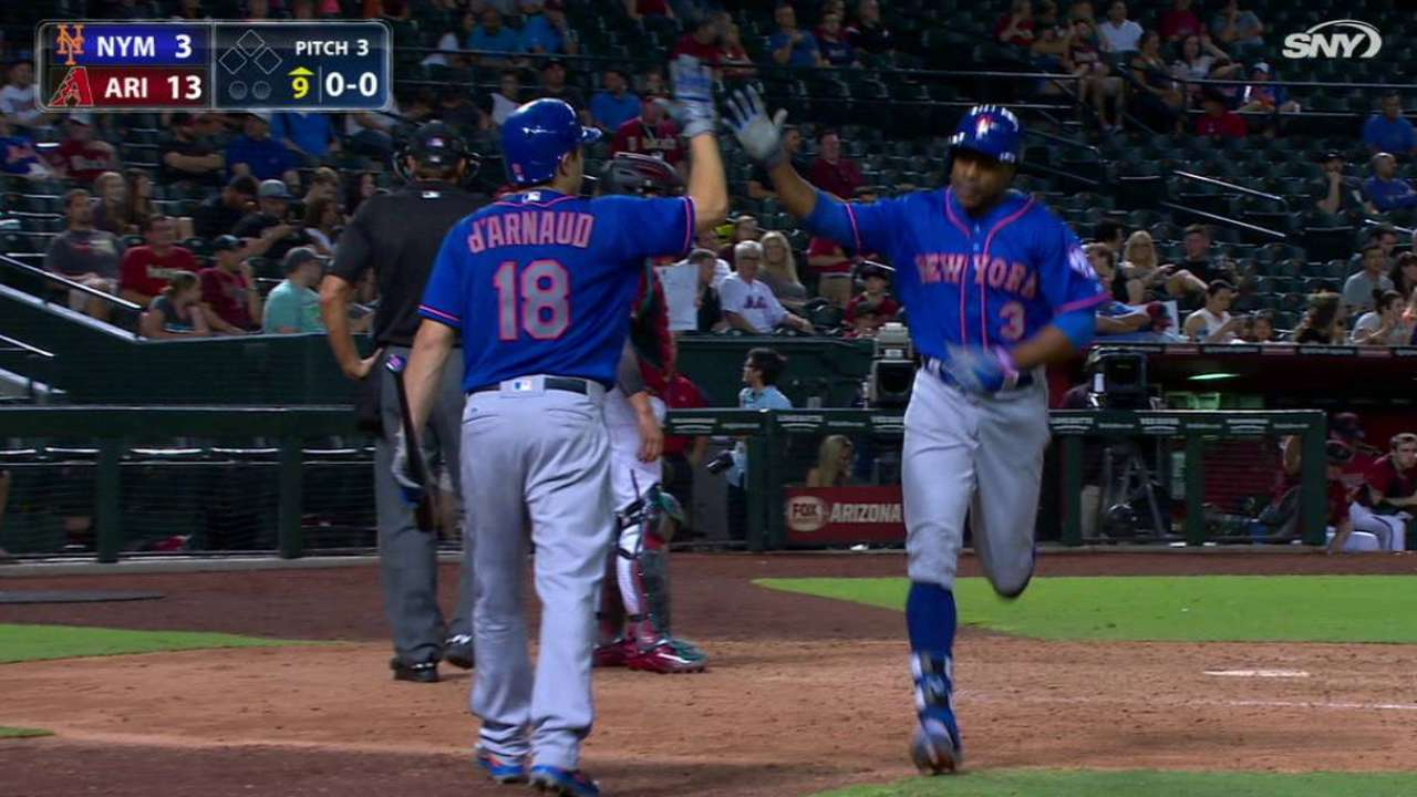 Granderson's solo smash to right