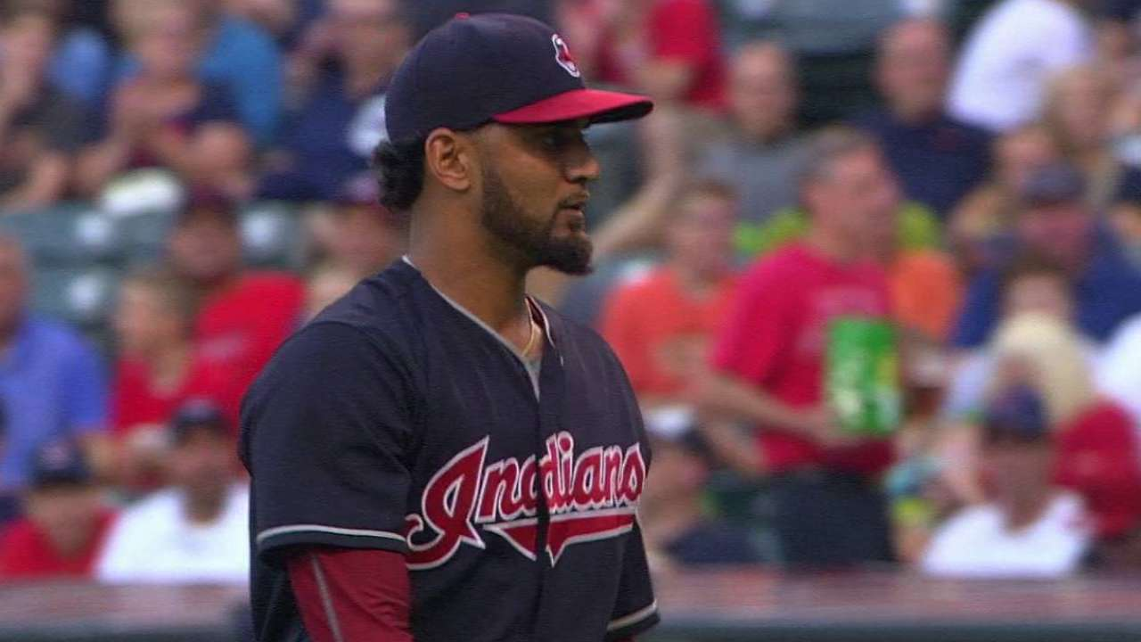 Salazar lasts 1 inning in return from disabled list