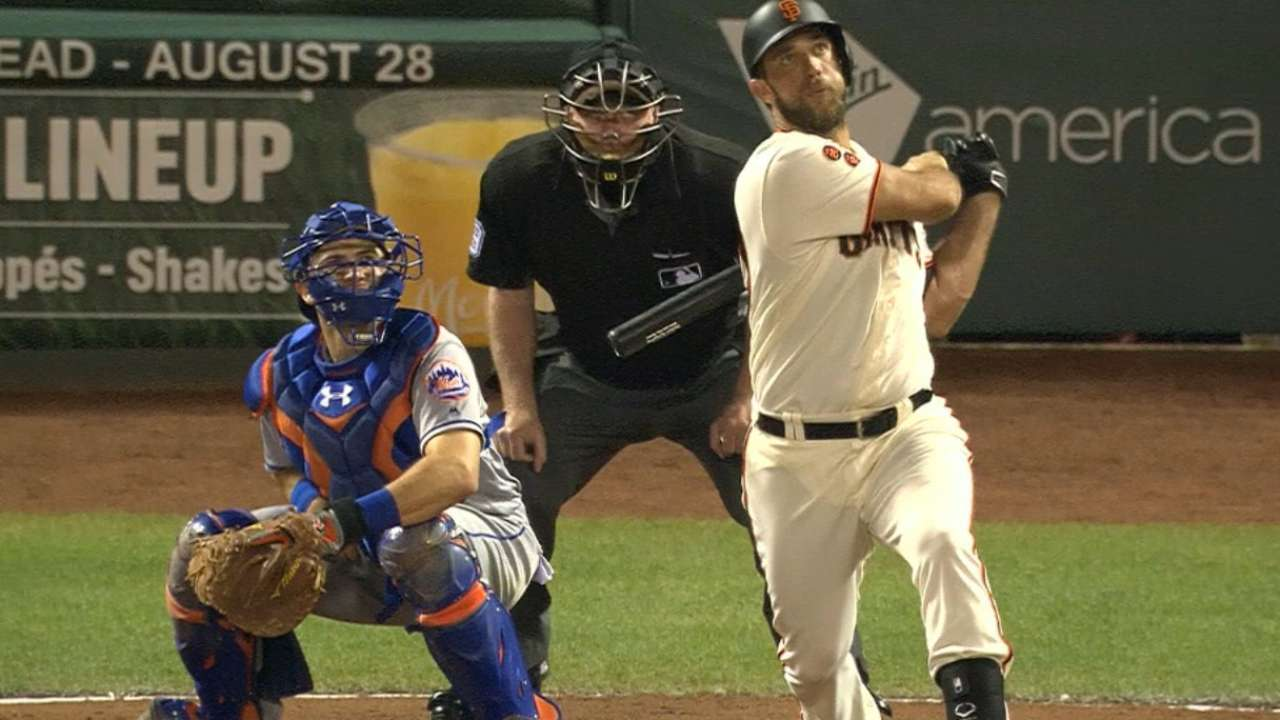 Giants' five-run 4th inning