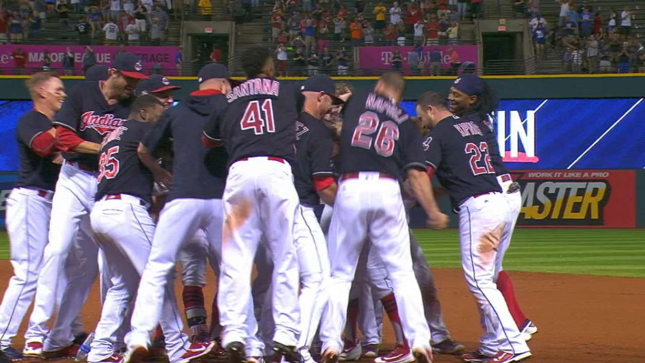 Naquin not nappin', walks Tribe off in mid-AB pinch