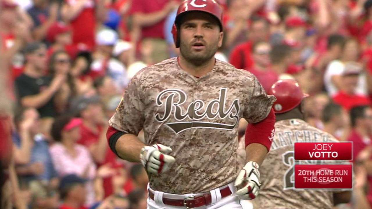Reds ride Votto's 4 RBIs to rout of Dodgers