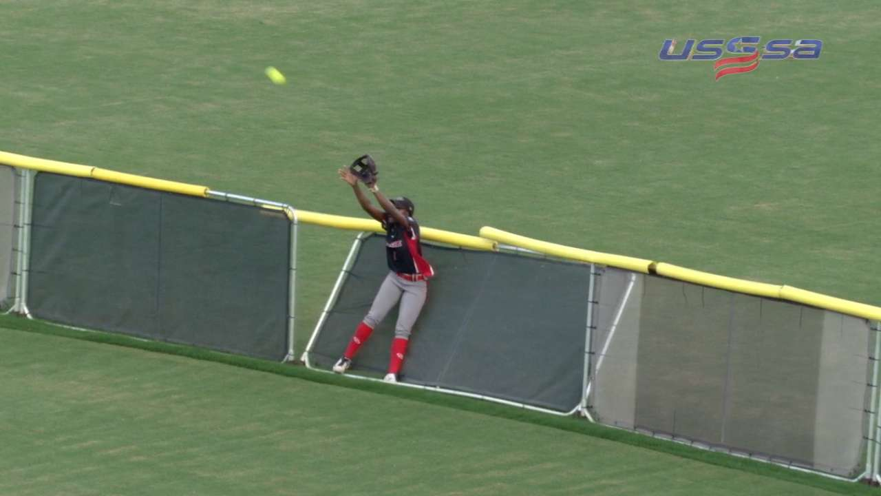 Andrews' wall-breaking catch
