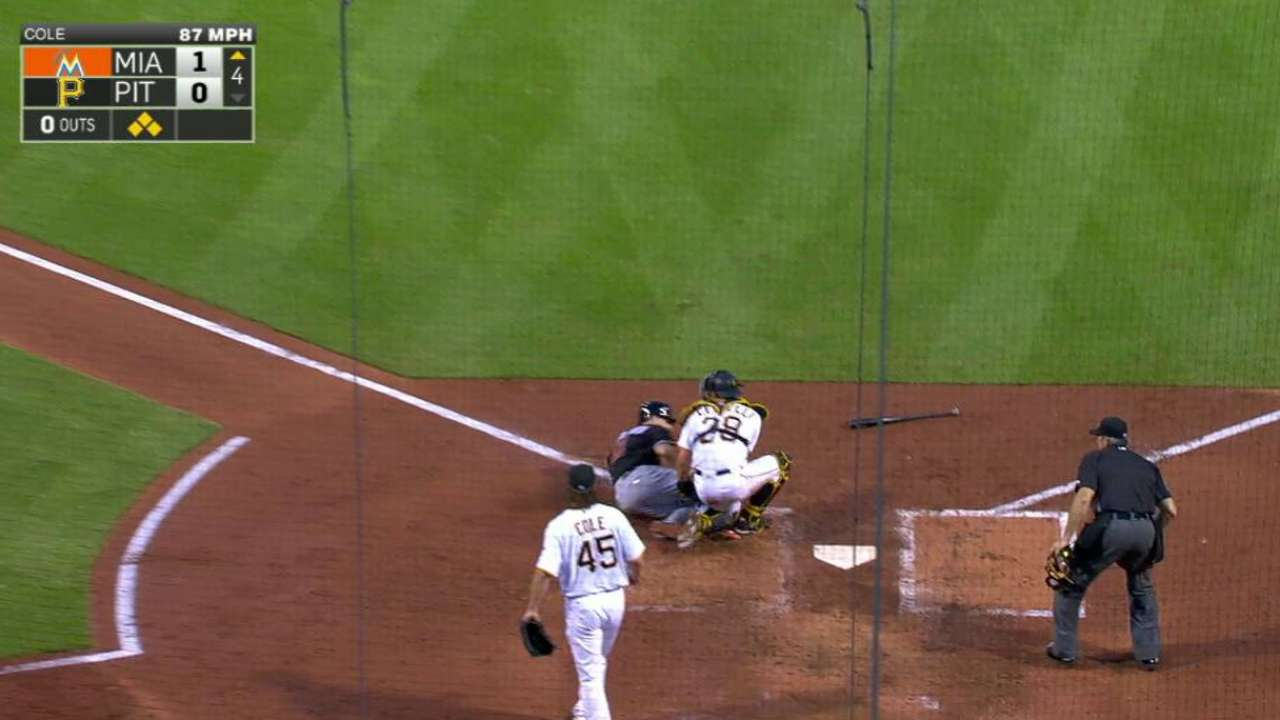 Marte's throw to the plate