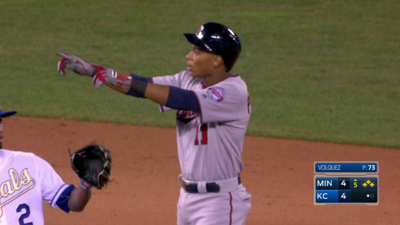 Polanco's two-run double