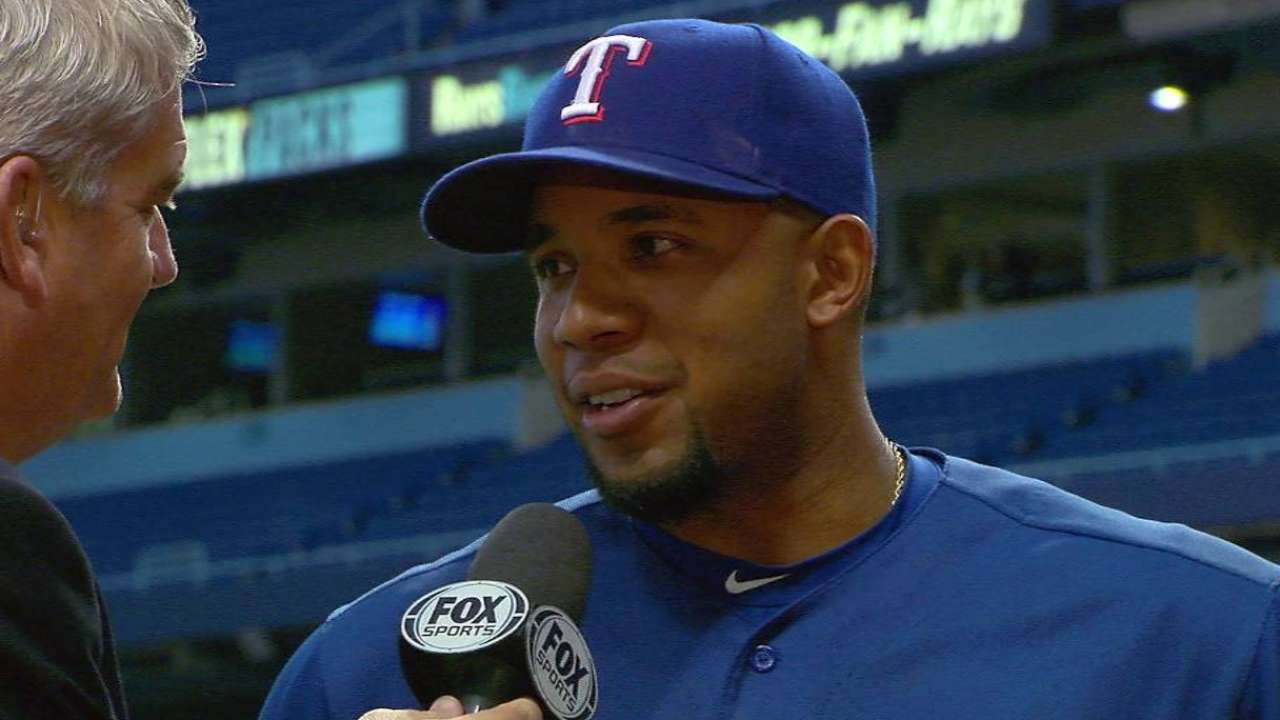 Andrus on Hamels' outing