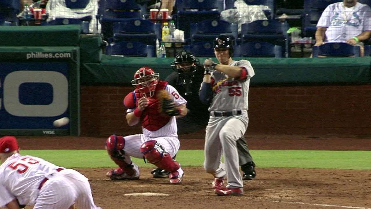 Piscotty gets hit by the pitch