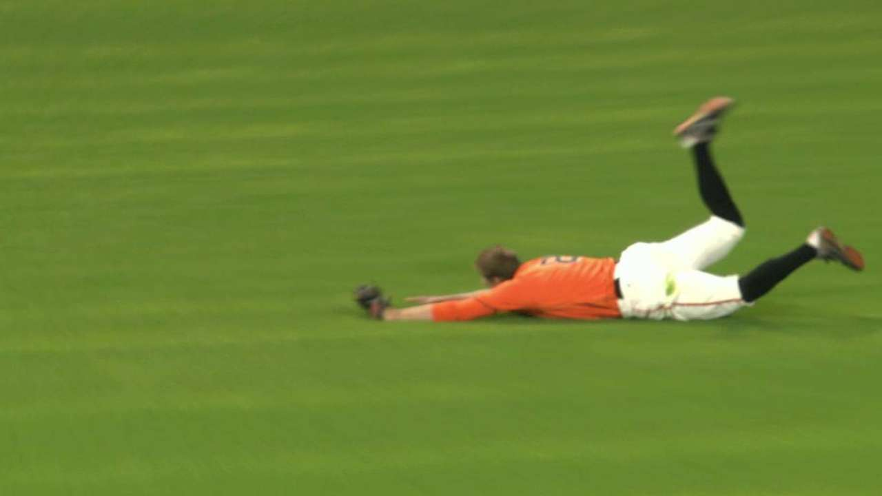 Pence's fantastic diving catch