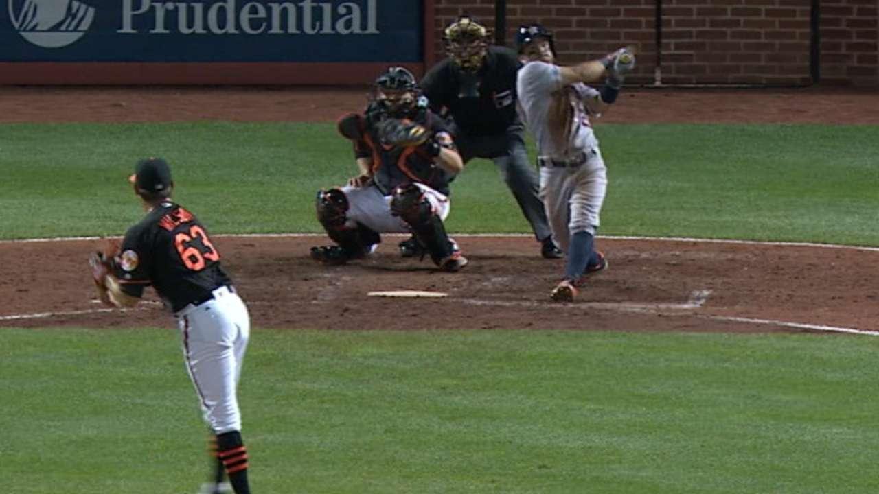 Astros hit four home runs