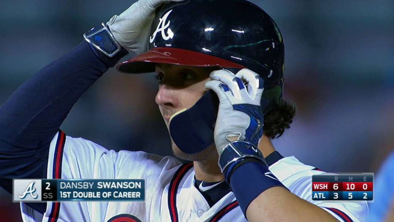 Swanson's first career double