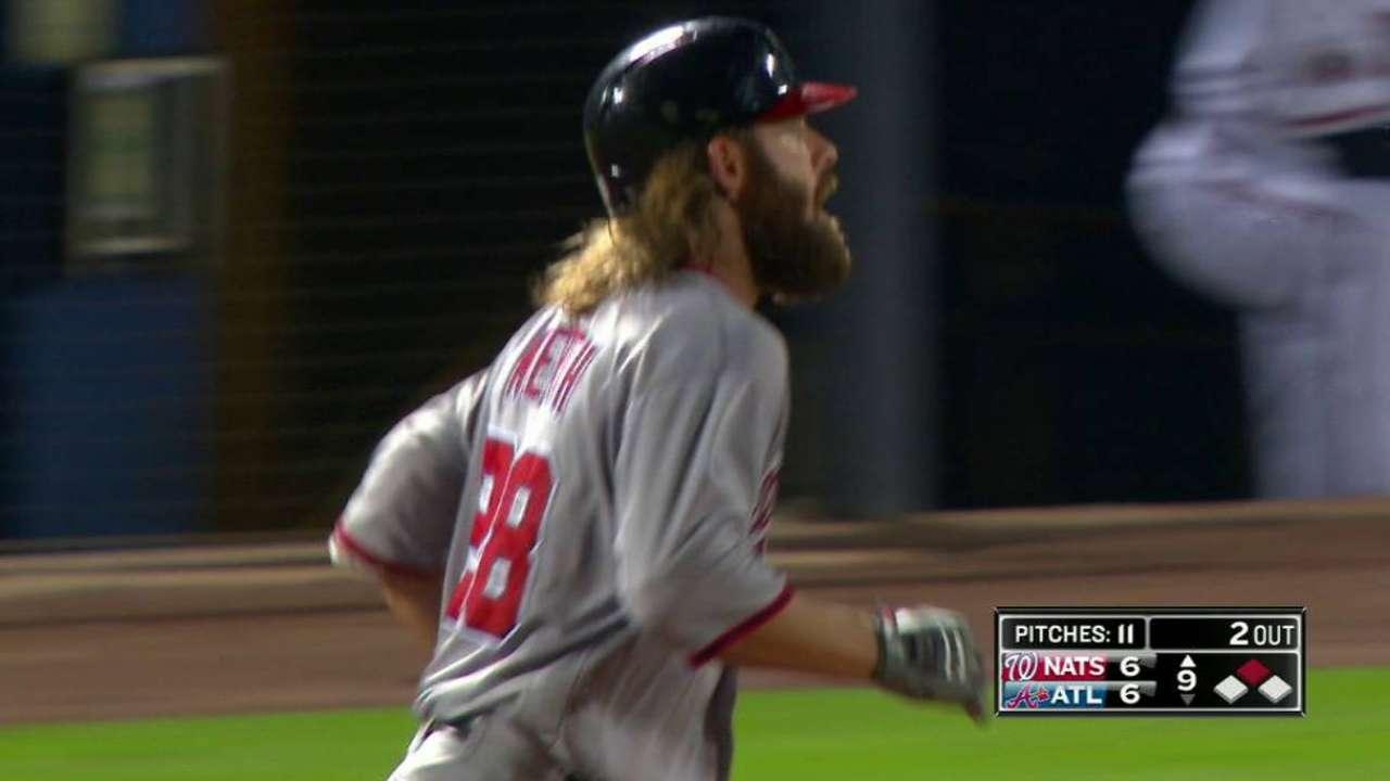 On-base streak ends, but Werth gets job done