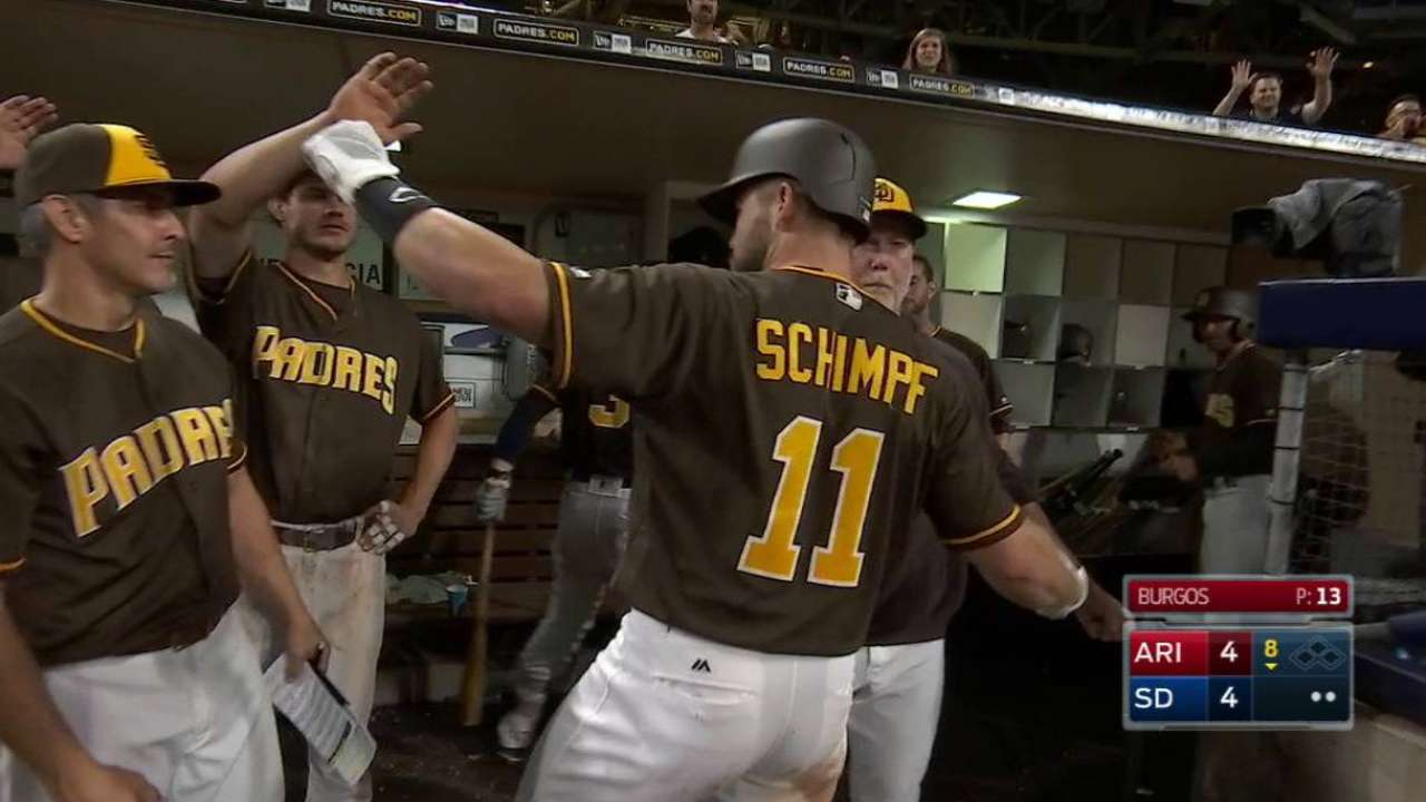 Schimpf's game-tying home run
