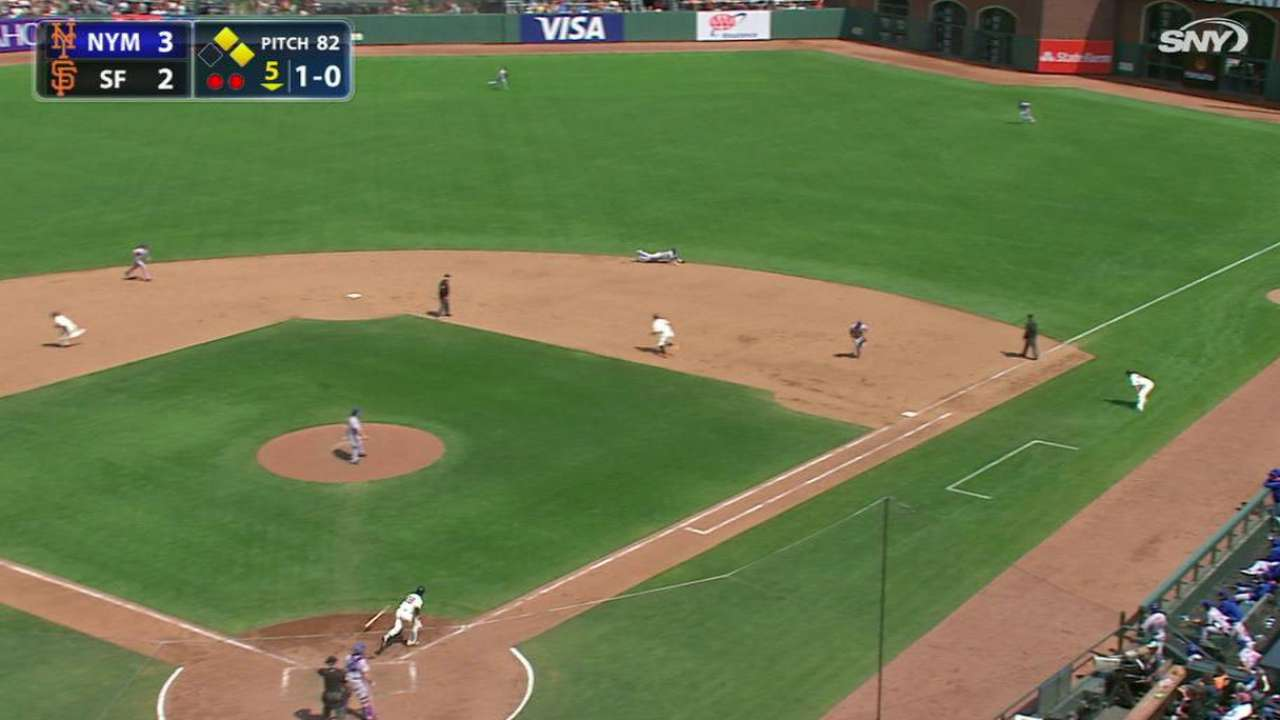 Walker dives to rob Posey again