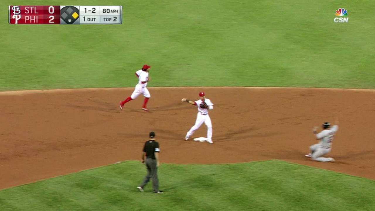 Galvis starts a double play