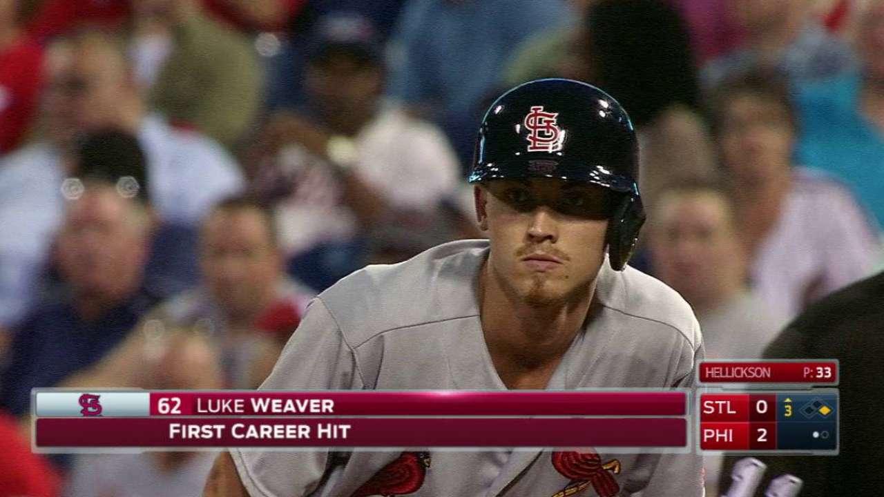 Weaver's first career hit