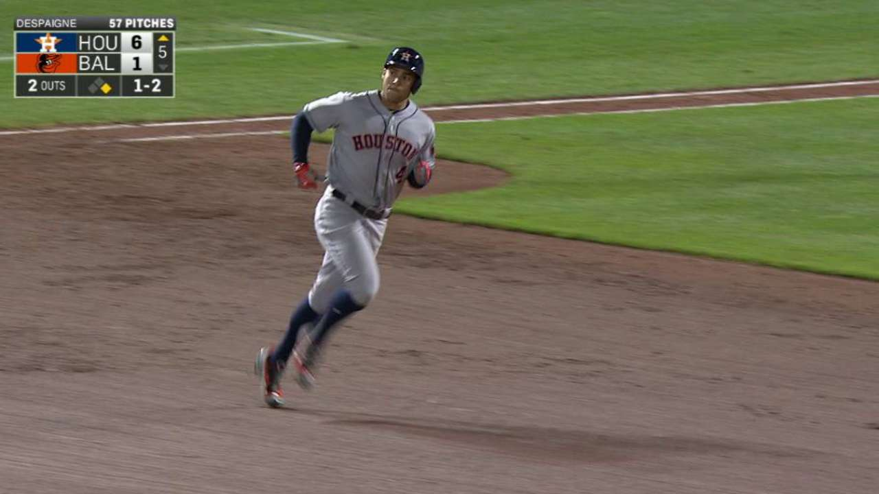 Springer's 25th home run