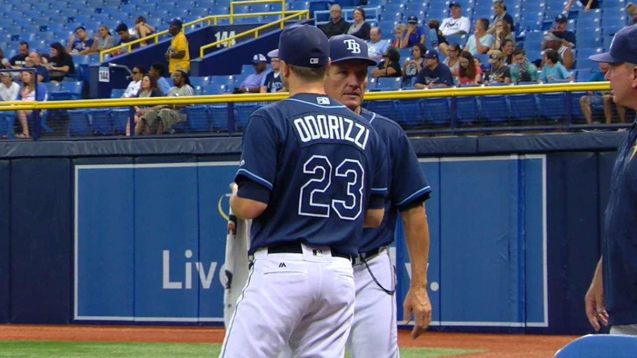 Odorizzi deals for Rays in win against Texas