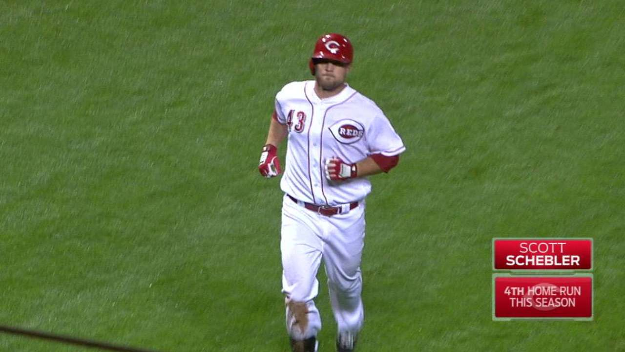 Schebler's two-run homer