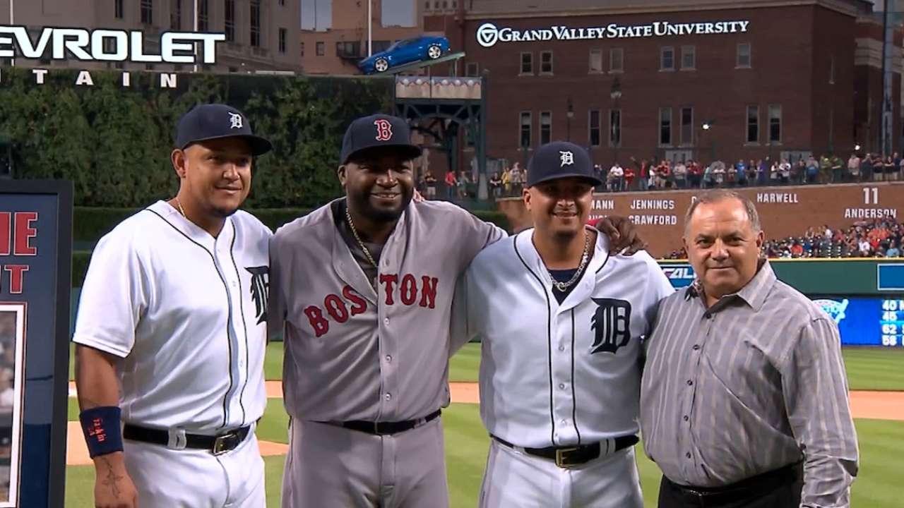 Detroit Tigers honor David Ortiz