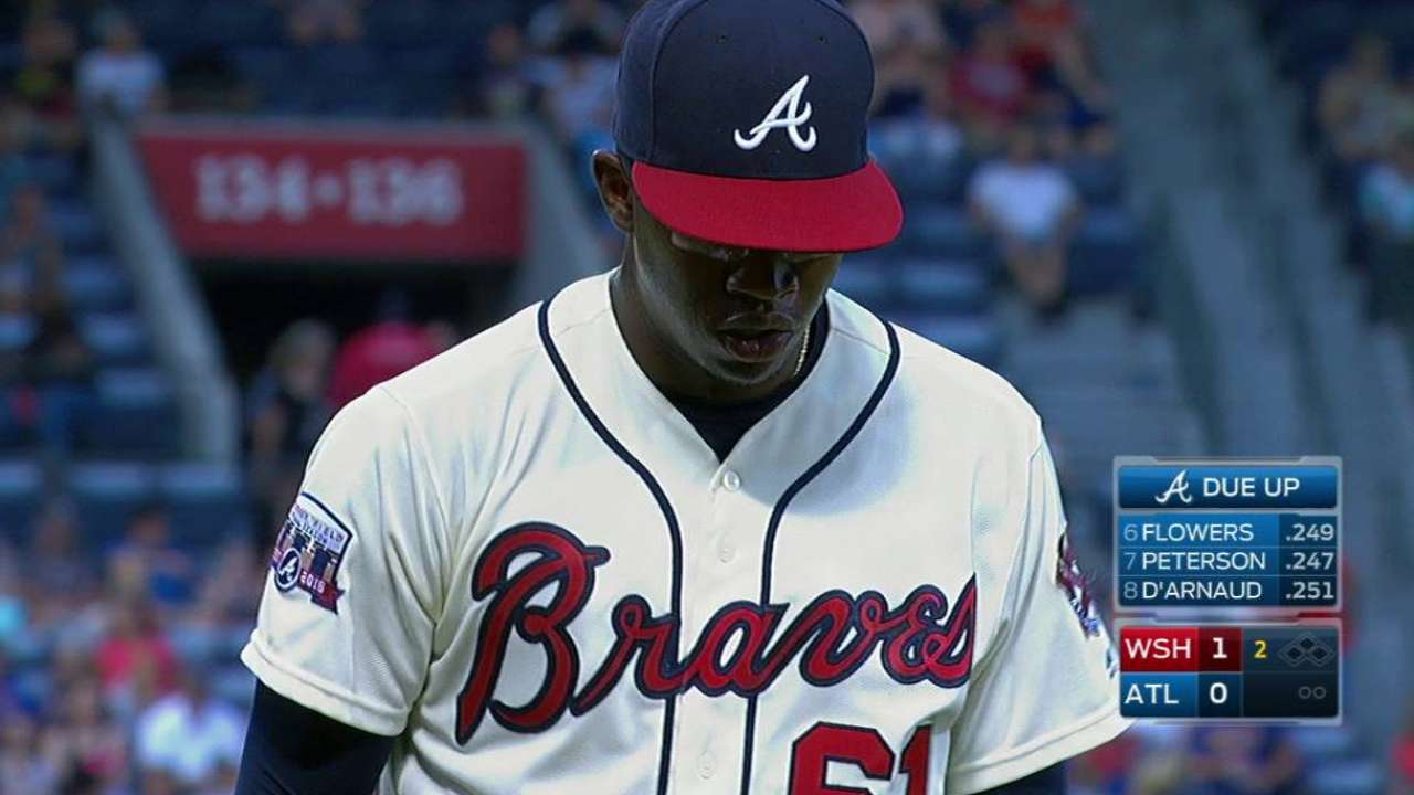 Braves' Jenkins feeling better after injury scare