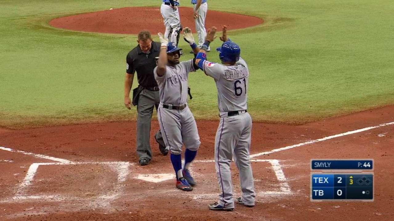 DeShields' two-run homer