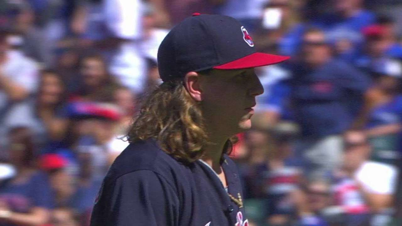 Rookie Clevinger keeps his cool in tense 7th