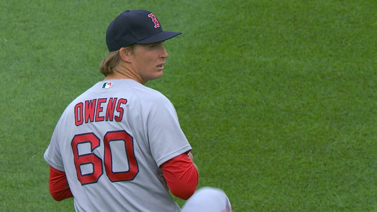 In for E-Rod, Owens hit hard; Buchholz starts Tuesday