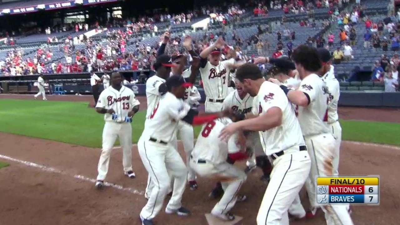 Peterson's walk-off HR lifts Braves over Nats
