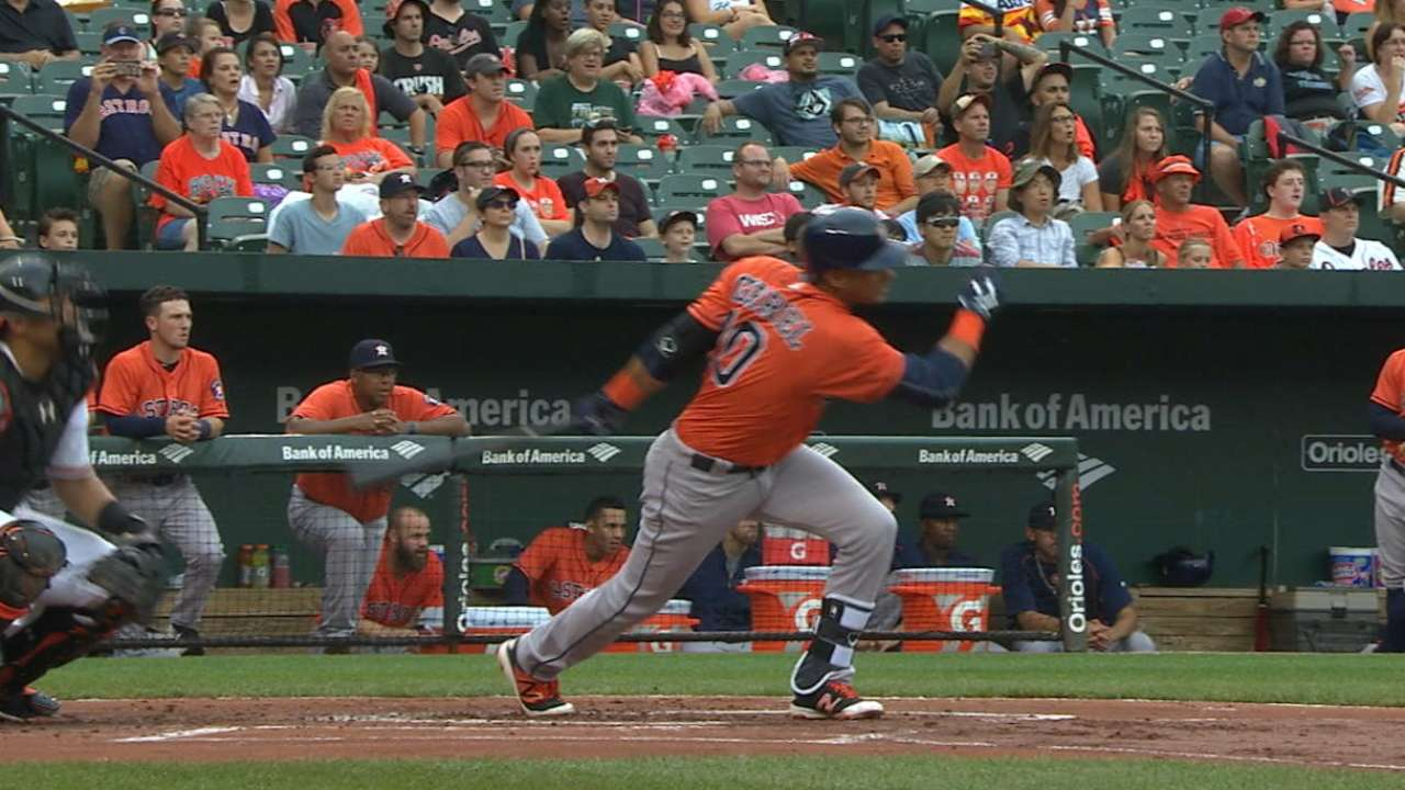 Gurriel logs 1st hit at home in return vs. Rays