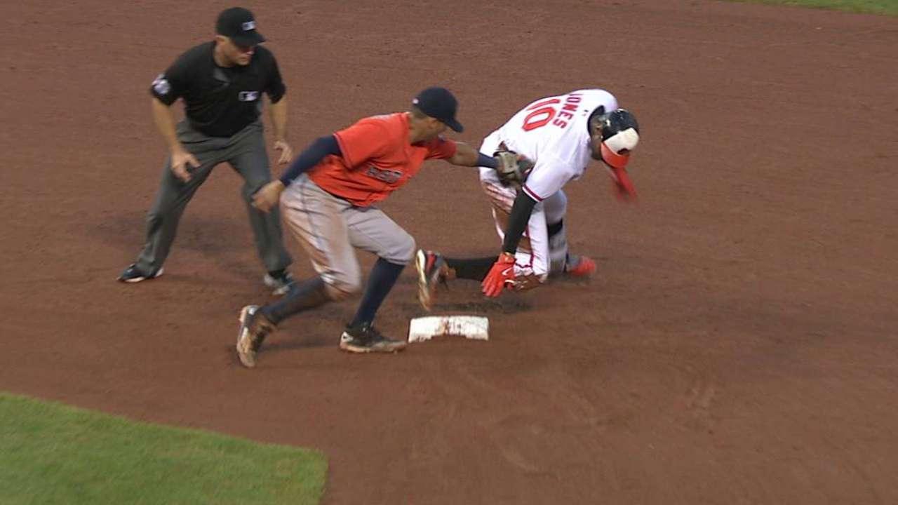 Correa lays the tag on Jones