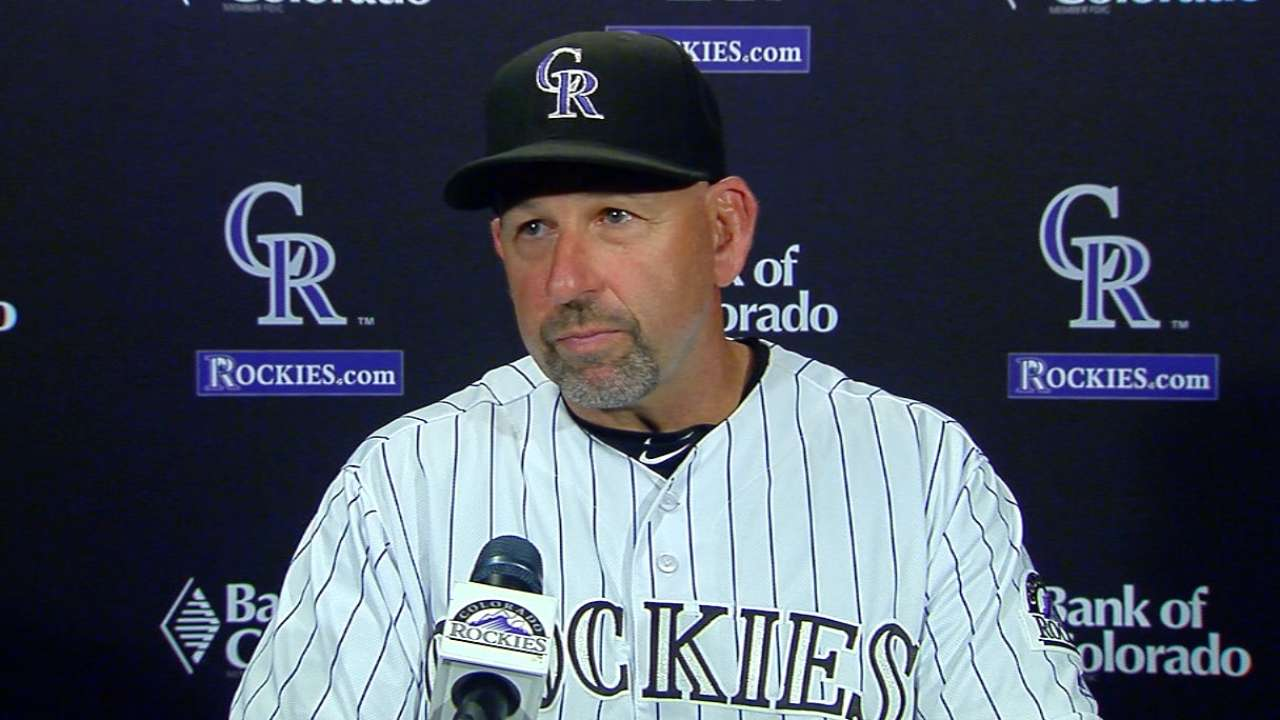 Weiss on Rockies' 11-4 win
