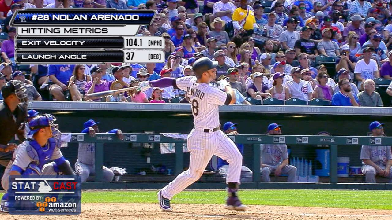 Arenado's 2 HRs lead to Rockie day for Cubs