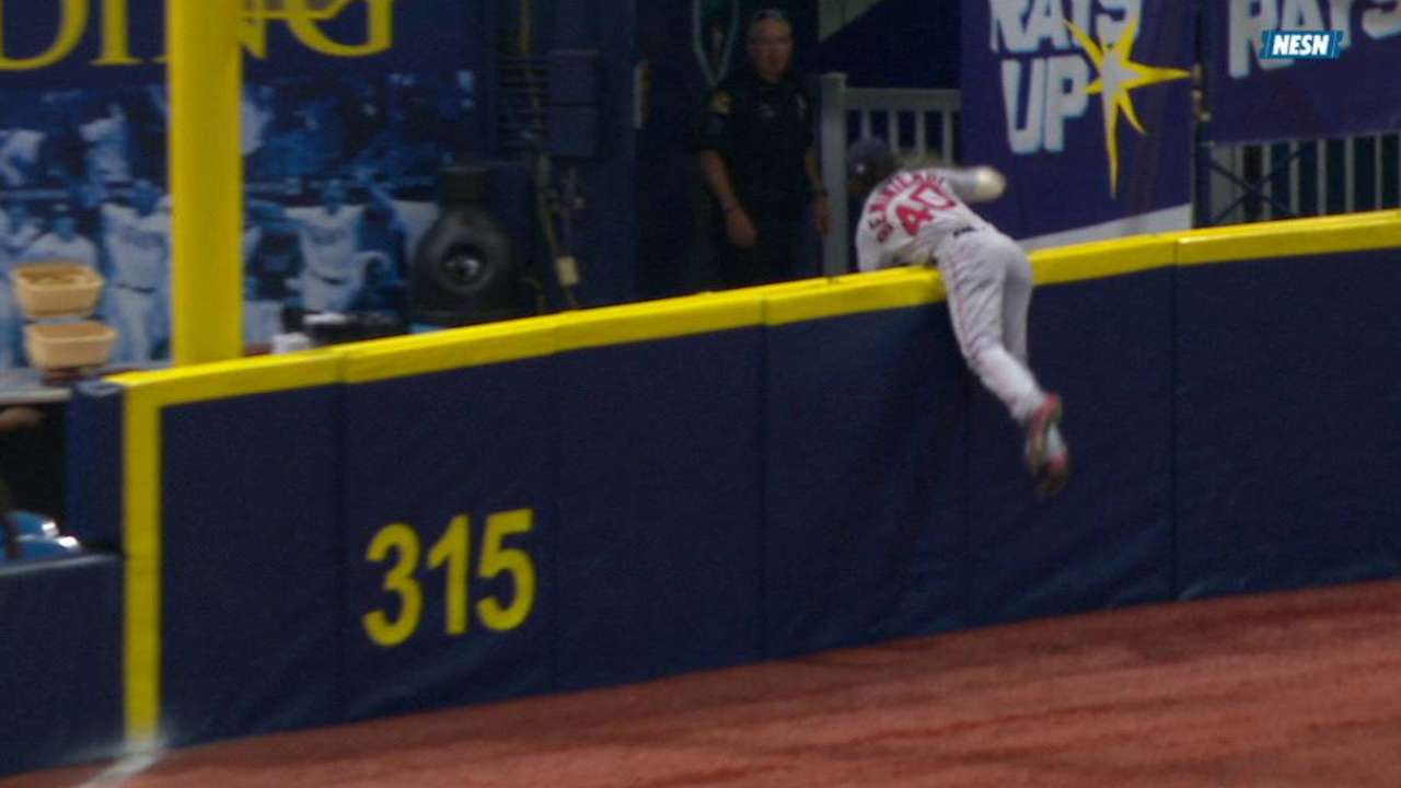 Benintendi's catch to rob homer