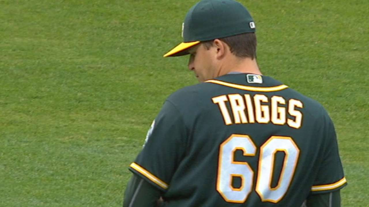 Nomadic Triggs finding footing in A's rotation
