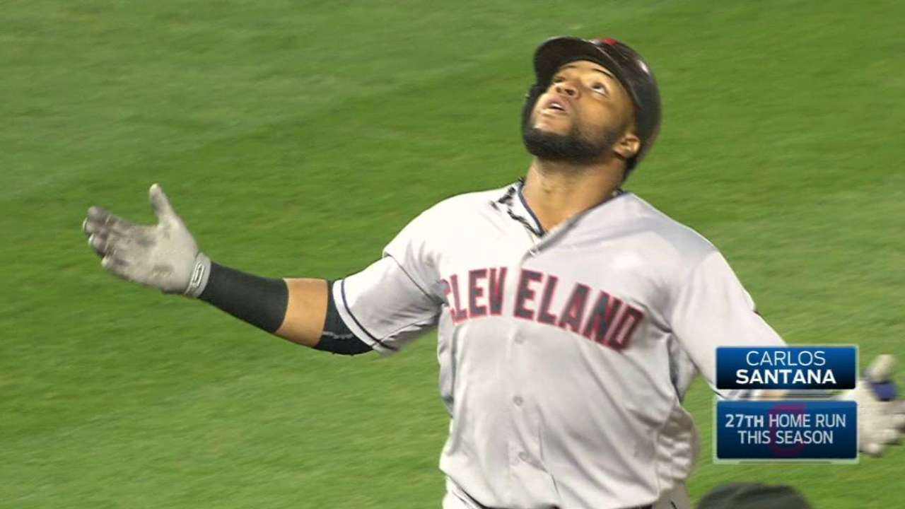 Santana Homers, Carrasco Pitches Indians Over A's 1-0