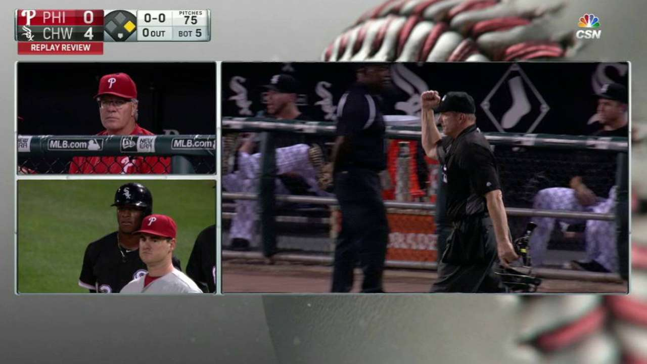 Thompson pickoff call overturned