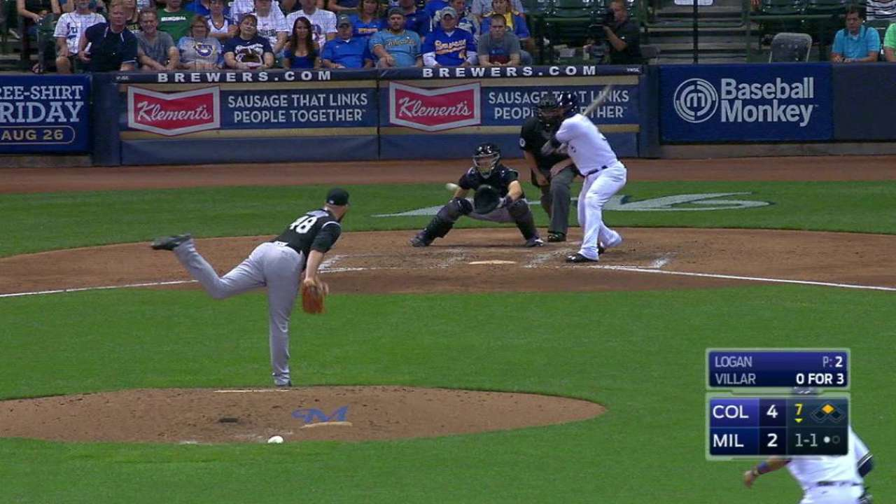 Villar's RBI double in the 7th