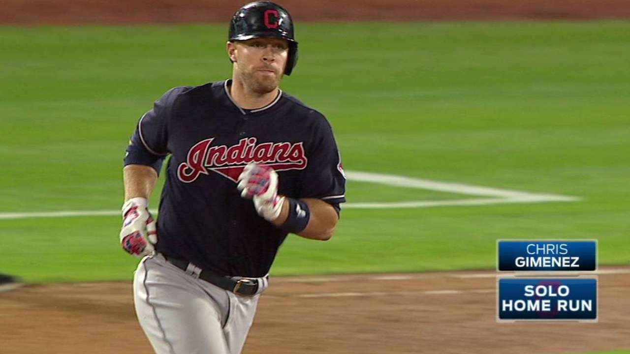 Gimenez homers in front of family, friends