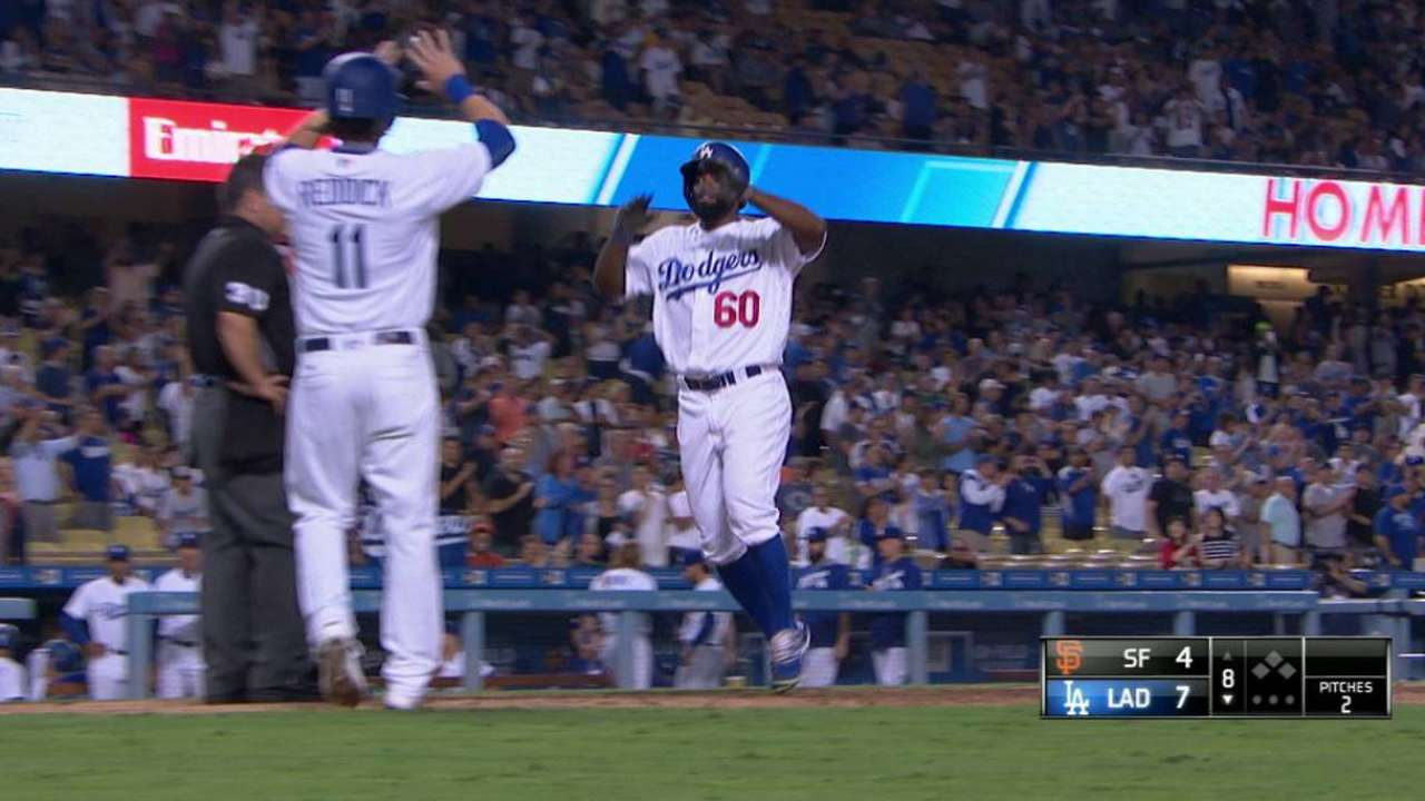 Dodgers pull away from Giants to pad West lead