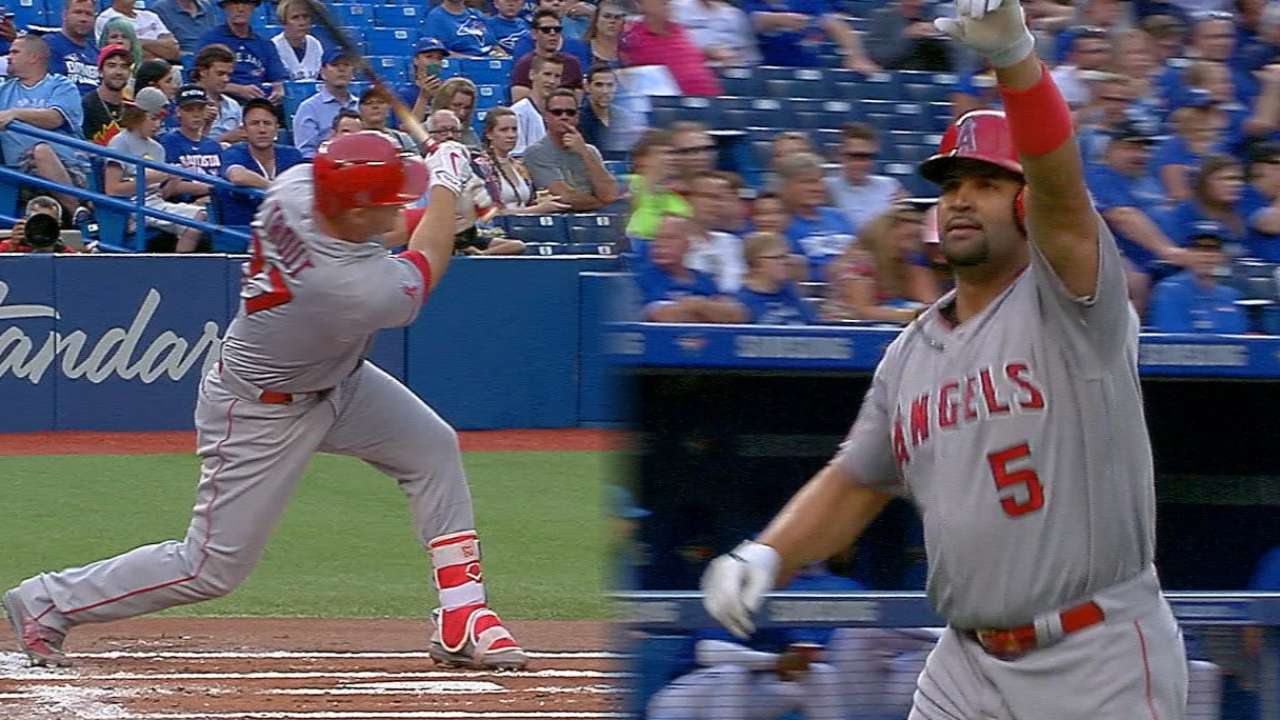 Angels' road slide ends with offensive onslaught