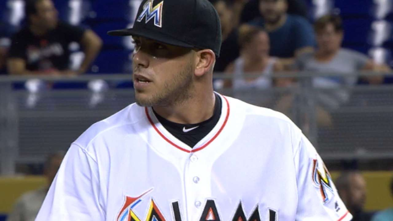 Jose shows way as Marlins halt KC's streak