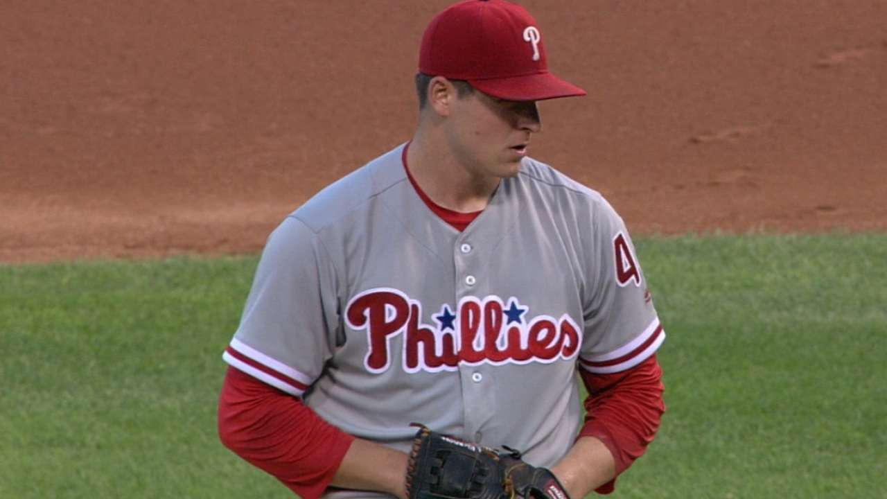 Eickhoff continues leading Phils' staff in '16