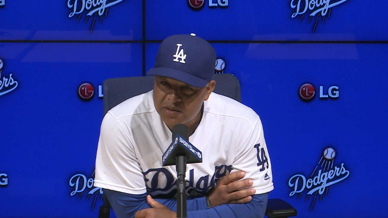 Roberts on Dodgers' win
