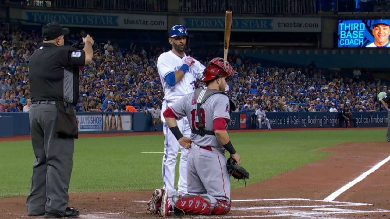 Fans welcome back Bautista