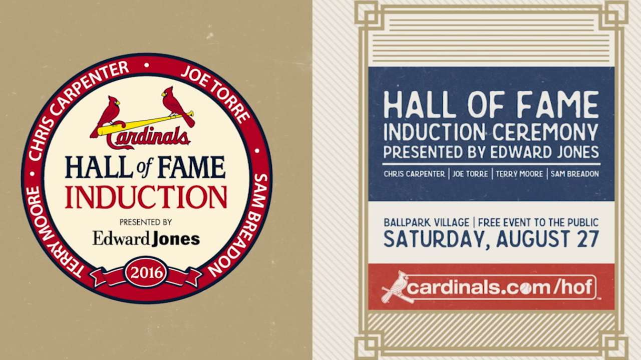 Cardinals set for HOF ceremony on Saturday