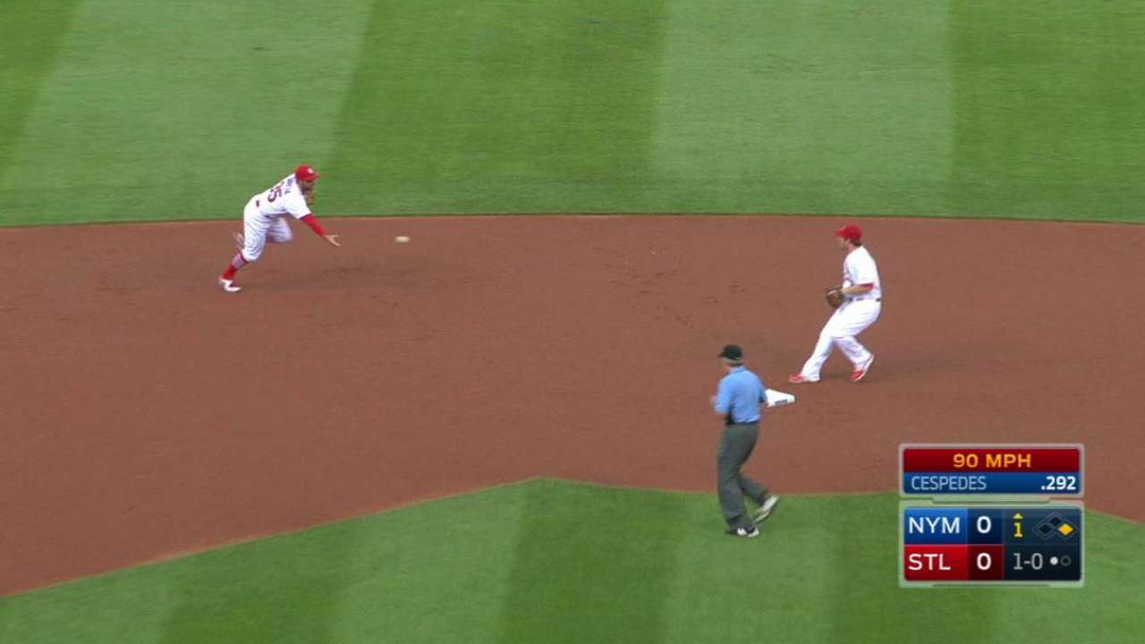 Grounds crew adds infield dirt to aid Garcia